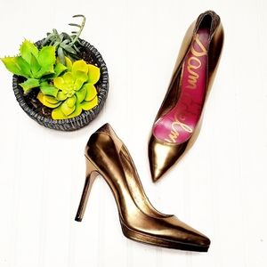 🎉Sam Edelman Celia Metallic Gold Pointed Heels🎉